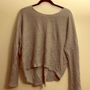 💛Gray high low sweater